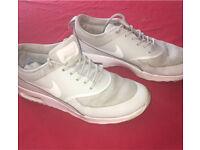 Platinum grey Nike Air max theas