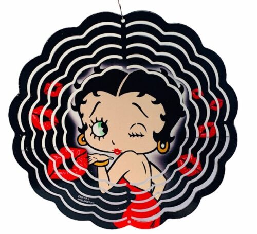 Betty Boop figurine vtg wall hanging sign wind chime spinner lip wink decor kiss