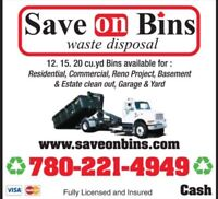 SAVE ON BINS EDMONTON same day service