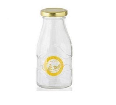 Brand New Kilner 1/3 Pint Glass Milk Bottle