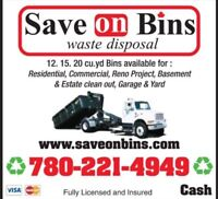 Save On Bins Inc. Provides Low Cost Bin Rental Dumpster Rentals