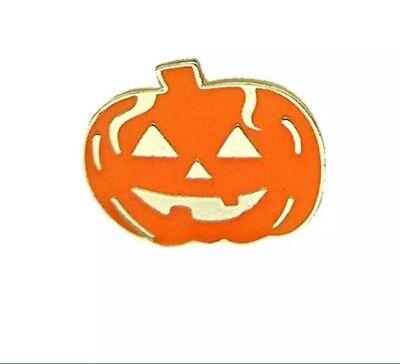 Pumpkin Halloween Pin Jack-O'-Lantern Spooky Carved Pumpkin Metal Enamel Pin