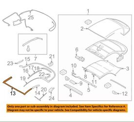 BMW 1 Series E88 - convertible roof seal