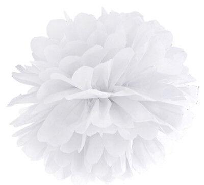 apier Hochzeit Party Kommunion Papierblume Blumenkugel WEIß (Seidenpapier Kugeln)