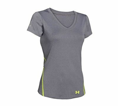 Under Armour Womens Ua Iso Chill Remi Ss Top  Graphite   X Ray  Size Large