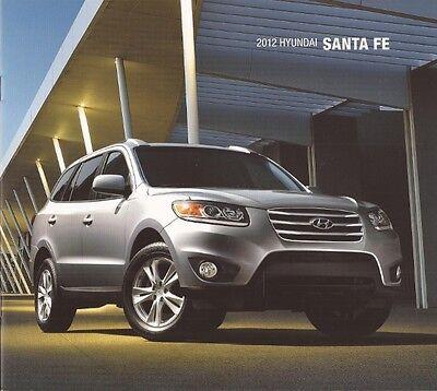 2012 12  Hyundai  Santa Fe original  brochure MINT