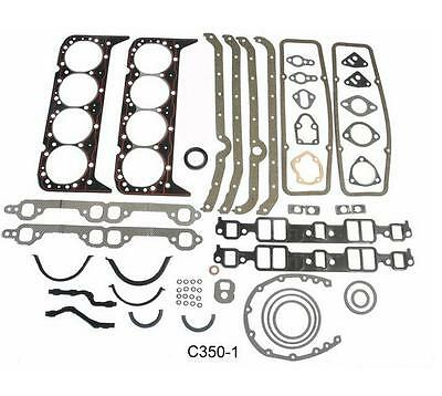 ENGINETECH C350-1 EARLY 2 PC 283 327 350 5.7 CHEVY SBC FULL GASKET SET KS2600