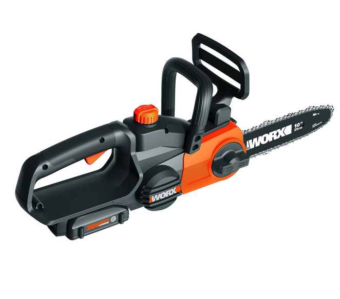 "WORX WG322 20V PowerShare 10"" Cordless Chainsaw with Auto-Te"