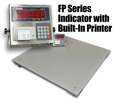 10000 Lbs Capacity 4x4 Floor Pallet Scale Industrial Indicator With Printer