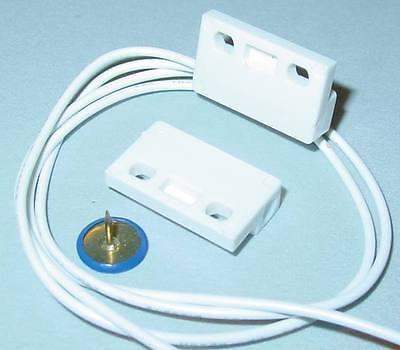 Mini Magnetkontakt, Magnetschalter, Reed, Tür/Fensterkontakt, Öffnungsmelder S48
