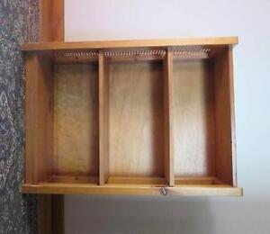 Timber and rattan bookcase Glenroy Moreland Area Preview