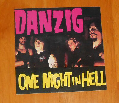 Danzig One Night in Hell Sticker Decal Original RARE Misfits 4x4 Square