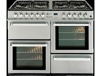 BRAND NEW FLAVEL MLN10FRS Dual Fuel Range Cooker - Silver