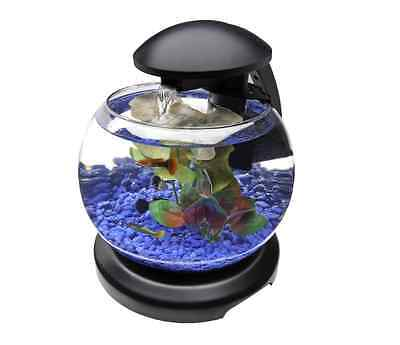 Aquarium Starter Kit Betta Fish Tank Bowl Goldfish Waterfall Globe Tetra Small