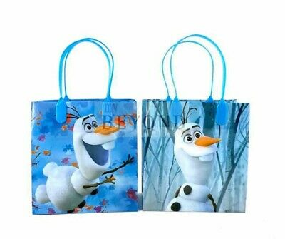 Frozen Birthday Bags (Frozen Olaf 2 Birthday Licensed Party Favors Goodie Gift Candy Loot Bags)