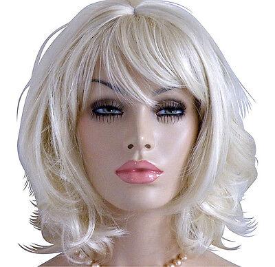 Perücke blond wie Echthaar Perücken Wig mittellang (Mittellang Blonde Perücken)