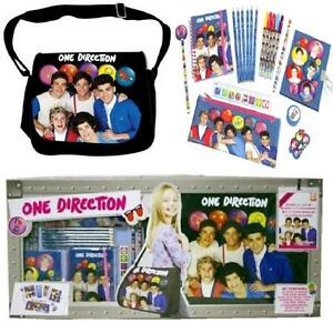 NEW ONE DIRECTION 1D TOUR CASE GIFT SET WITH 1D MESSENGER BAG STATIONERY DIARY