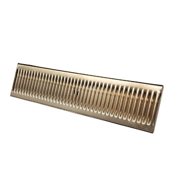 """20"""" x 5"""" Stainless Steel Drip Tray with Drain - Surface Mount Drip Tray-beer,bar"""