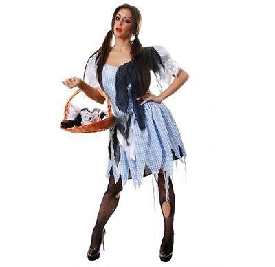 Damen Bauernmädchen Dorothy Dienstmädchen Zombie Halloween Kostüm Kleid Outfit ()