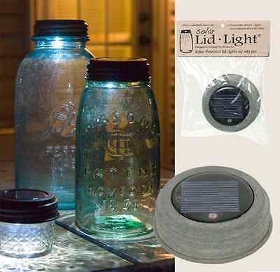 Country/Primitive/Farmhouse/Cottage Solar Lid For Mason Jar-WEATHERED GALVANIZED