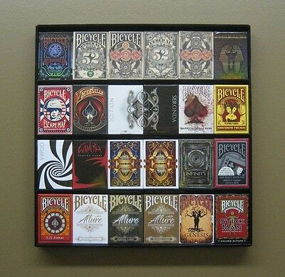 The Playing Card Frame - 24 Deck Acrylic Playing Card Display US Made