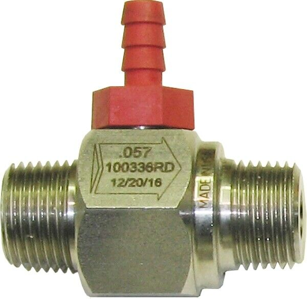 General Pump 100336RD Red Hose Barb Stainless Steel Chemical Injector - .057 In.
