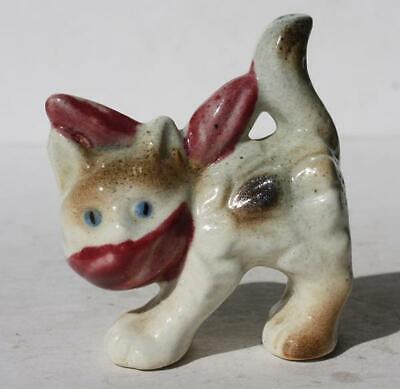 Cat Burglar Mask (Cat-Kitten Figure Cat Burglar Mask Ceramic-Porcelain Hand Painted Japan)