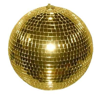 HUGE 12 INCH GOLD MIRROR DISCO BALL party supplies reflection mirrors dj novelty - Disco Ball Party Supplies