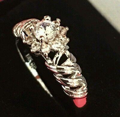 Clearance 18K White Gold Finish  1CT  Moissanite Halo Engagement Ring Super Deal 18k White Gold Moissanite Ring