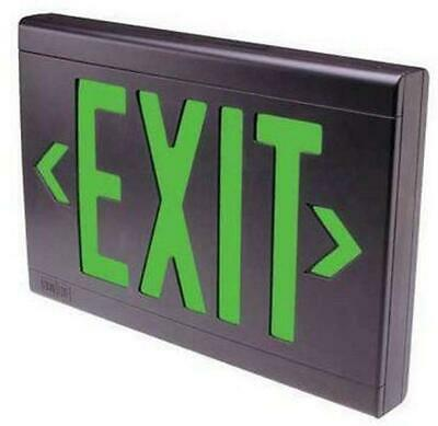 Dual-lite Eveugbei-af-24k Exit Sign Emergency Blackgreen Led New