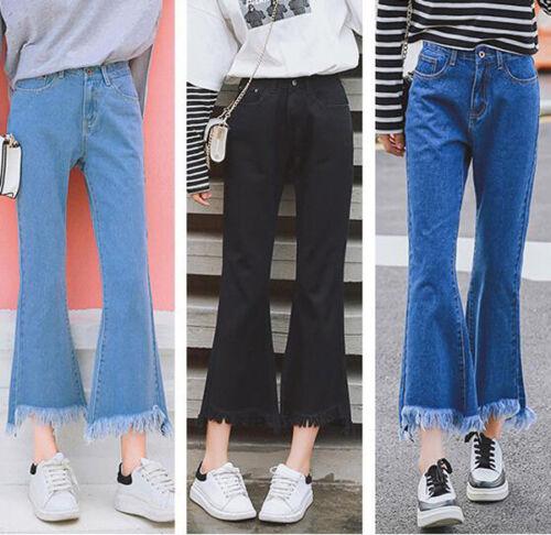 7388 NEW Women's Wide Leg Denim Jeans Loose High Waist  Cott