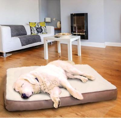 Extra Large Orthopedic Dog Bed Removable Cover Machine Washable Pet XL Mat Plush