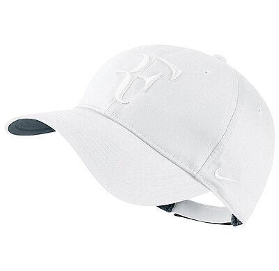 3e943f3d2e003 New Nike RF Roger Federer Hybrid Hat Cap White Tennis Dri Fit 371202-111