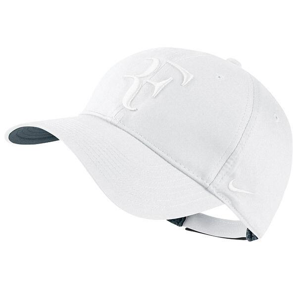 626d57a76 New Nike RF Roger Federer Hybrid Hat Cap White Tennis Dri Fit 371202-111