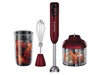 Russell Hobbs 3-in-1 Hand Blender 400 W - Red