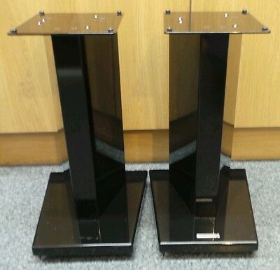 Rare Vintage SoundStyle Heavy Duty Metal Stereo HiFi Speaker Stands - 50cm Tall