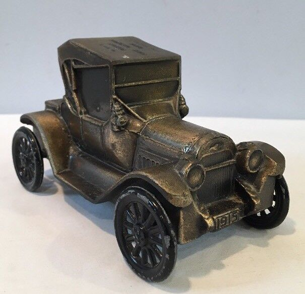 VTG Peoples First National Bank of No Miami Beach Coin Bank 1915 Coupe Metal Car