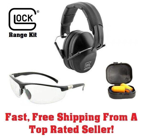 GLOCK RANGE KIT shooting glasses and ear muffs