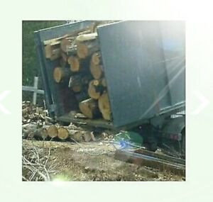 Dry hardwood firewood logs 6.5 bush/load free delivery!