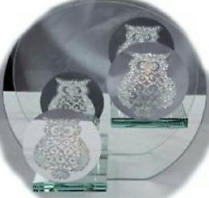 Round-Owl-Crystal-Glass-Double-Tea-Light-T-light-Aroma-Scented-Candle-Holder
