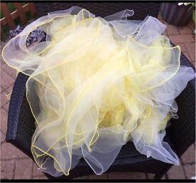 Yellow and white chiffon