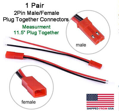 Jst 2pin Connector Malefemale Plug Cable 11.5 Leads Rc Lip Batteryled Lights
