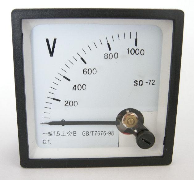1pcs SQ72  DC 0~1000V Analog Voltage Panel Meter  1000V