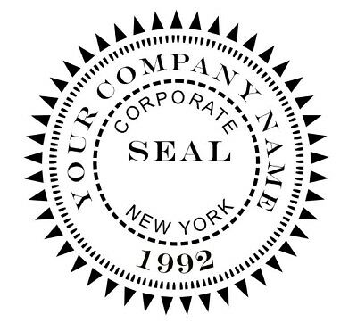 Custom Designer Corporate Seal Shiny Ez Seal Embosser Corporate Seal