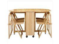 Wooden Butterfly 4-Chair Dining Set in Oak