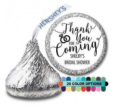 Thank you for coming! Bridal Shower Personalized Party Favor Hershey Kiss - Bridal Shower Thank You Favors
