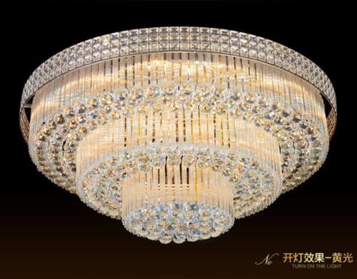 Modern K9 Crystal Chandelier Flush Mount Ceiling Lighting Fi