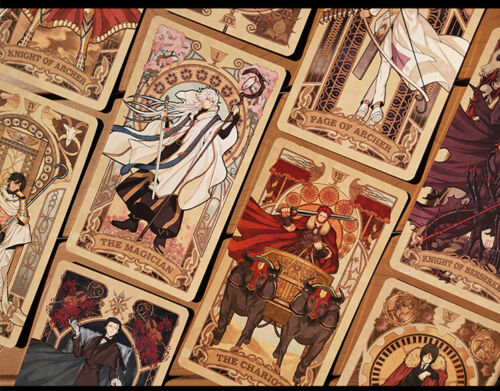 Japanese Anime Clamp X Cosplay Tarot 80pcs Cards Set Collection Gift