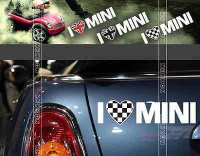 Car Vehicle Personalized I LOVE MINI Sticker For Mini Cooper