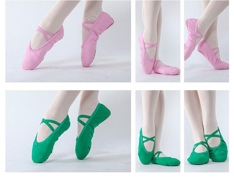 New Girls Soft Dance Shoes SZ 8-14